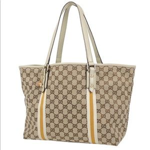 Authentic GUCCI monogram canvas large tote